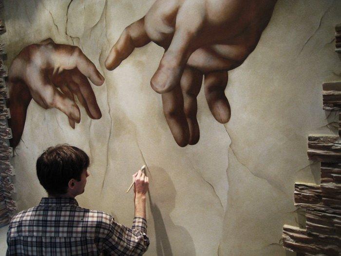Фреска чем рисовать